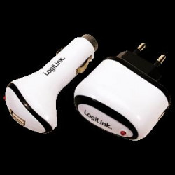LOGILINK USB CHARGER SET 220V+12V