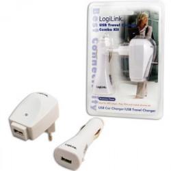LOGILINK USB CHARGER SET 220V+12V