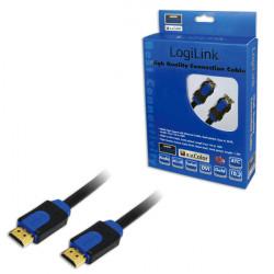 CABLE LOGILINK HDMI 1.4 2x HDMI MALE, BLACK 2M