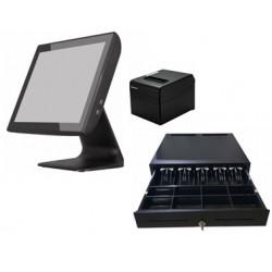 TPV 15 KT-800 J1900 4GB 64GB+CAJON PORTAMONEDAS + IMPRESORA TICKET